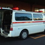 東京ディズニーリゾートの中の救急車