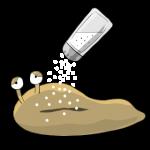 ナメクジに塩をかけると溶けるが、砂糖をかけても溶ける